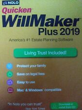 Nolo Quicken WillMaker Plus 2019 with Living Trust Software for Mac & Windows