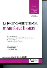 Le droit constitutionnel d'Adhémar Esmein
