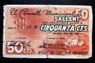 309-INDALO- Consejo Municipal de Sallent (Barcelona). 50 Cts Mayo 1937 !!!!!!!!!