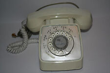 White Rotary Telephone GTE  1971