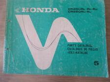 honda cr250r . parts list