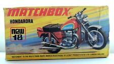 Matchbox Superfast No 18 Motorcycle Hondarora  Empty Repro I Style Box