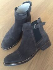 7aa625588371fc Damenschuhe Di Donna Leder Chelsea Boots Stiefelette Neu 99€ Italy 40  Dunkelgrau