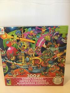 Ceaco 300 Piece 'Comic Capers' Fantasy Flying Ship Jigsaw Puzzle