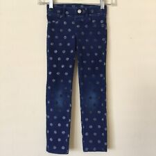 "Sonoma ""Goods for Life"" Girls Skinny Pants Jeggings Polka Dots Blue Size 6"