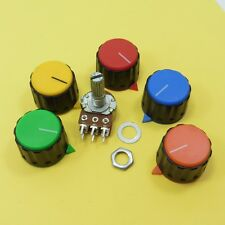 Stereo Potentiometer Linear B Volume Tone Mixer Ohm Lin With a Plastic Knob Cup