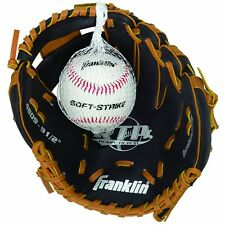 "Franklin Sports Rtp Teeball Performance Gloves & Ball Combo 9.5"" Black/Tan"