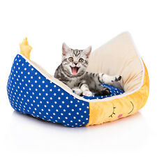 Moon Star Boat Shape Soft Bed Cushion Pad for Pet Puppy Cat Dog Kennel Cartoon