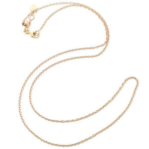 18ct Rose Gold Fine Chain Adjustable Length Belcher Style 18 Inches Hallmarked