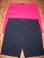 Lot 2 TALBOTS Petites sz. 6P  Pink & Navy Blue Golf/Walking/Casual Shorts