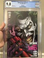 Batman: Three Joker #1 Variant Cover F CGC 9.8 Johns & Fabok! Ready to Ship L@@K