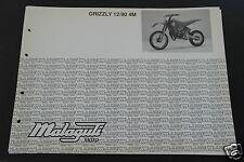 Catalogo Ricambi ORIGINALE Telaio Motore MALAGUTI GRIZZLY 12 90 4M