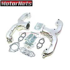 Small Block Chevy Sbc 283 350 V8 Ram Horn Chrome Exhaust Manifold Headers 55up
