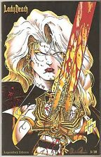 Lady Death 1. Legendary Edition. 20th Anniversary Kick-off! Ltd #3 of 20. Rare!!
