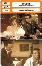 FICHE CINEMA : VOLUPTE - Lollobrigida,Franciosa 1961 Go Naked In the World