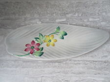 Old Vintage Mid Century Modern Gray Floral Pottery Dish Shorter & Son England