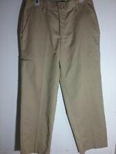 Red Kap Men/'s Pleated Slacks Khaki Work Pants NWT NEW PT32 KH Size 34 Unhemmed