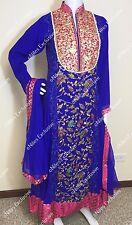 Pakistani Indian Ethnic gown designer Salwar Kameez Embroidery Bridal L