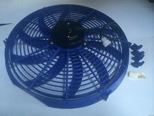 16 INCH 12V BLUE ELECTRIC COOLING FAN PERFORMANCE THERMO FAN 12V
