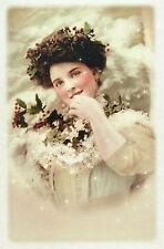 CIALDE di riso per decoupage, scrapbooking fogli vecchia Foto Signora in Bianco
