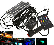NEW 4 In 1 12V Blue Car Truck Interior Atmosphere Charge LED Lights Decor Lamp