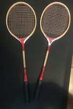 TWO Vintage Courtland Flash Wood Wooden Badminton Rackets See pictures Please.