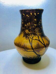 Vase Pate De Verre Pâte De Verre Daum Art Nouveau Art Deco