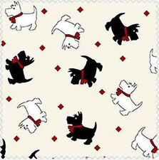 Maywood Walk in Park Scottie Dogs Repro MAS8801-E new bty Cotton Fabric.