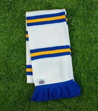 Leeds United Colours Retro Bar Scarf - White,Gold & Royal - Made in UK