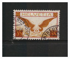 SWITZERLAND HELVETIA 1923 AIR 35c  WINGS VERY FINE USED OFF PAPER