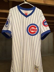 Chicago Cubs Ryne Sandberg Authentic Mitchell & Ness 1984 Division champ Jersey
