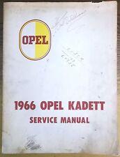 1966 Buick Opel Kadett Models Service Shop Repair Manual OEM GM 66