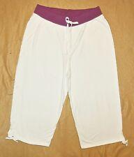 Plus JMS Just My Size French Terry 2 Tone Capri Pants Capris 1X White/Purple NEW