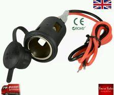 Potencia 12V-24V a Prueba de Agua Motocicleta Barco Encendedor de Cigarrillos para Coche + Cable