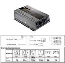 TS-400-112F MEANWELL 12V 400W TRUE SINE WAVE DC / AC INVERTER WITH GFCI OUTLETS