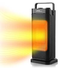 Portable Ceramic Space Heater, Oscillating,Adjustable Thermostat,60Hz 900W/1500W