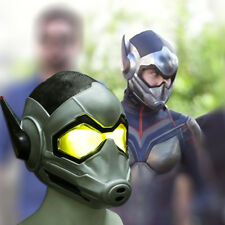 The Wasp LED Helmet Cosplay Ant-Man and The Wasp Woman LED Halloween Mask Latex