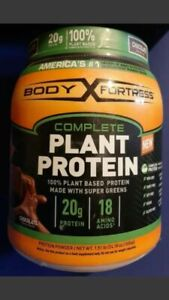 Body Fortress Complete Plant Protein Powder Gluten Free - Chocolate 1.51 LB