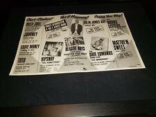 Beastie Boys/Springsteen/Dave Edmunds Rare Radio Promo Poster Ad Framed! #2