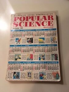 Vintage (January 1955) Popular Science Magazine