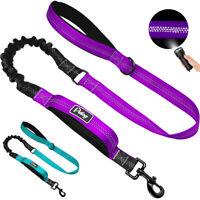 No Pull Dog Bungee Leash Dual Handle Reflective Elastic Walking Lead Nylon Rope