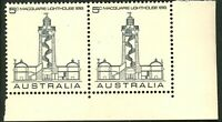 Australia 1968 MNH Corner Stamps Pair of 2x5c Macquarie Lighthouse variety issue