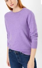 Marks And Spencer NEW Size 8 Pure Cashmere Round Neck Jumper Mauve