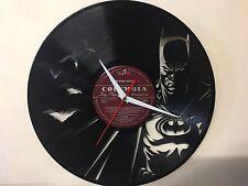 Repurposed Vinyl Record Clock and Wall Art -  Batman-6 LP Clock Random Label