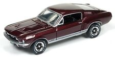 Auto World 1/64 1967 Ford Mustang GT Burgundy Die-cast Car AW64062