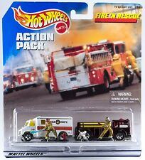 Hot Wheels Action Pack Fire & Rescue Ambulance & Fire-Eater New 1998