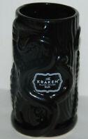 Release The Kraken Black Tiki Mug Spiced Rum Embossed Octopus Cup 6.5 Inches