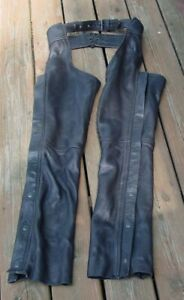 Vintage Interstate Leather Motorcycle Chaps Men's Size XS