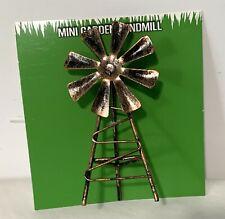 "Windmill Farmhouse Decor Farm Fairy Garden 3 Tier Tray Mini 4"""