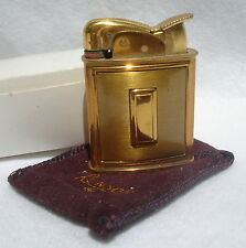 Vintage 1940's Evans Spitfire Gold Tone Lighter Monogrammable Ronson Storage Bag